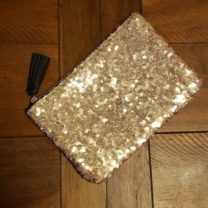 Gold Sequined Ipsy Zippered Bag